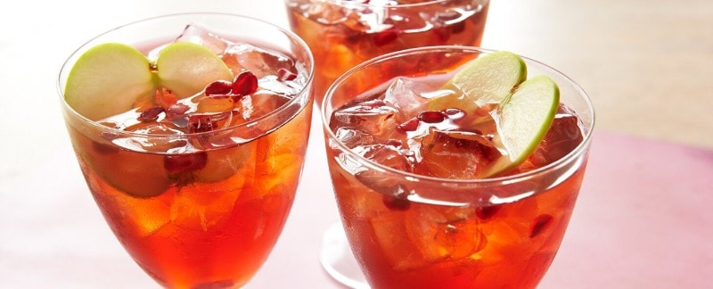 Pomegranate-Apple Iced Tea