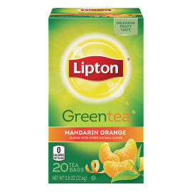 PNG - Lipton US -Lipton Tea Green Mandarin Orange 20 PC