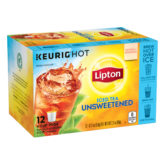 PNG - Lipton US- K-Cups Iced Tea Unsweetened