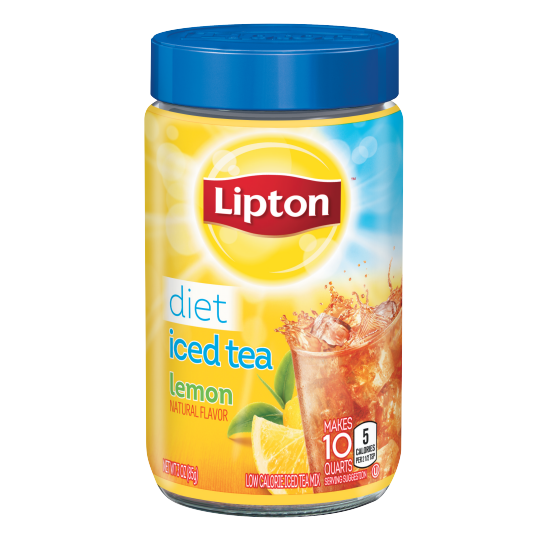 PNG - Lipton US - Lipton Iced Tea Mix Diet Lemon 10 qt