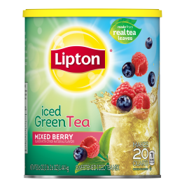PNG - Lipton Sweeted Iced Tea Mix Green Mixed Berries 20 QT
