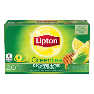 PNG - Lipton US - Lipton Green Tea Bags Decaffeinated Honey Lemon