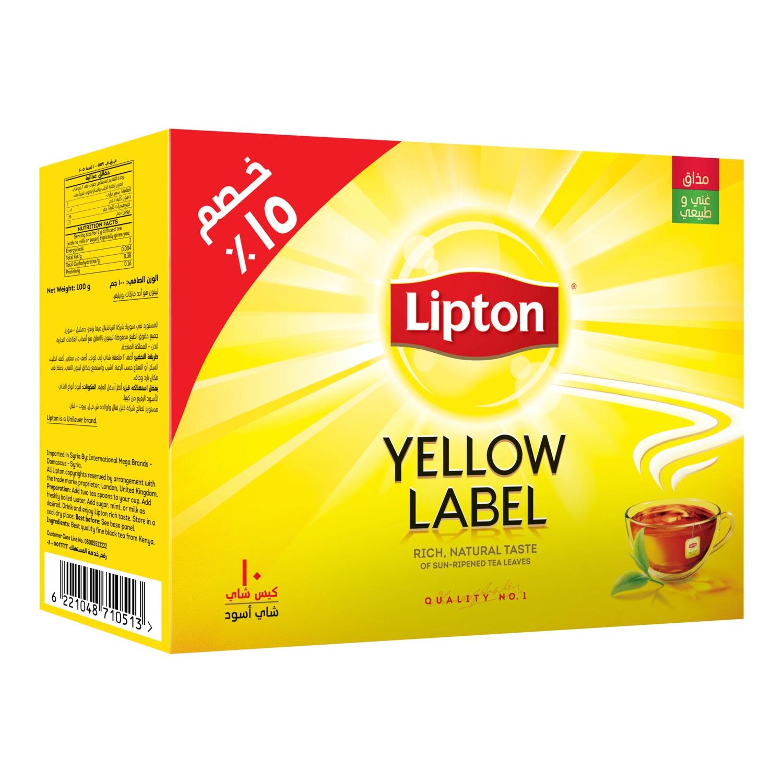 Lipton yellow label black tea bags