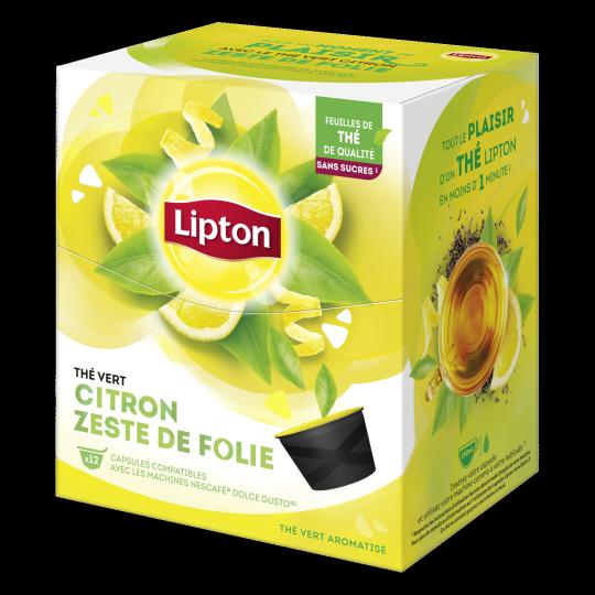 Thé Vert Citron Zeste de Folie - 12 Capsules