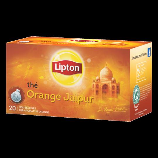 Lipton Thé Orange Jaïpur 20 Sachets 40g