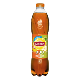 Lipton Ice Tea DUO Peach Pear flavor 1,5L bottle