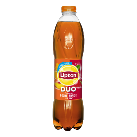 Lipton Ice Tea DUO Peach Strawberry flavor 1,5L bottle