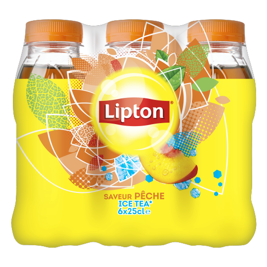 Lipton Ice Tea Peach flavor 250mL bottle X6
