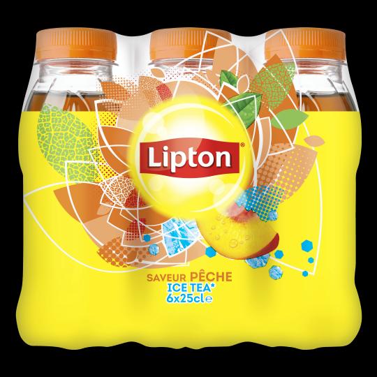 Lipton Ice Tea Peach flavor 250mL bottle X6
