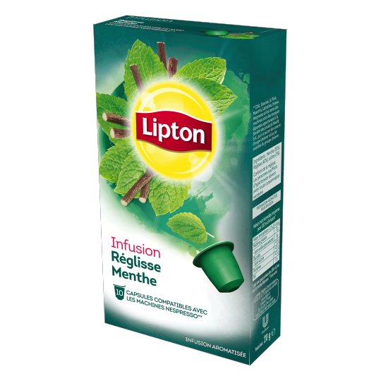 Lipton Infusion Reglisse menthe - 10 Capsules