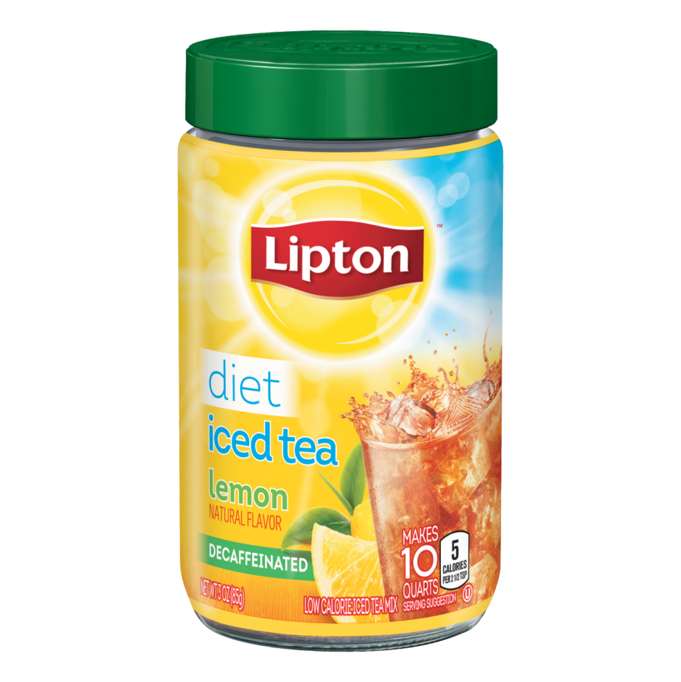 Decaffeinated Diet Lemon Iced Tea Lipton