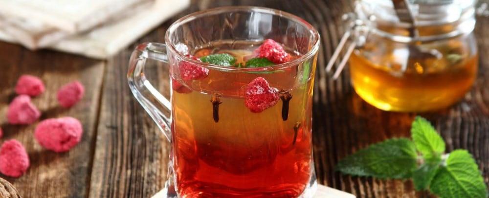 Herbata z malinami