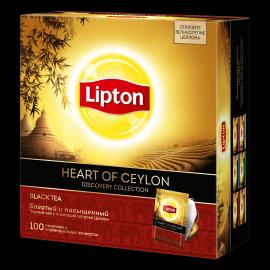 LIPTON черный чай в пакетиках heart of ceylon tea 100 шт