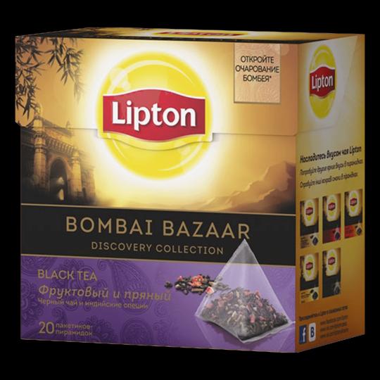LIPTON черный чай в пирамидках bombay bazaar tea 20 шт