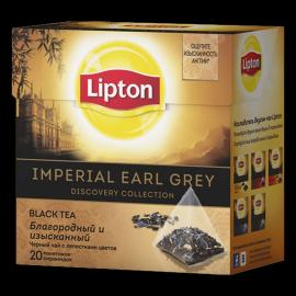 LIPTON черный чай в пирамидках imperial earl grey 20 шт