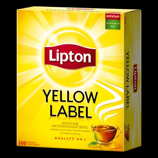 LIPTON Yellow Label черный чай в пакетиках lyl 100 шт