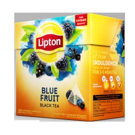 Blue fruit black tea