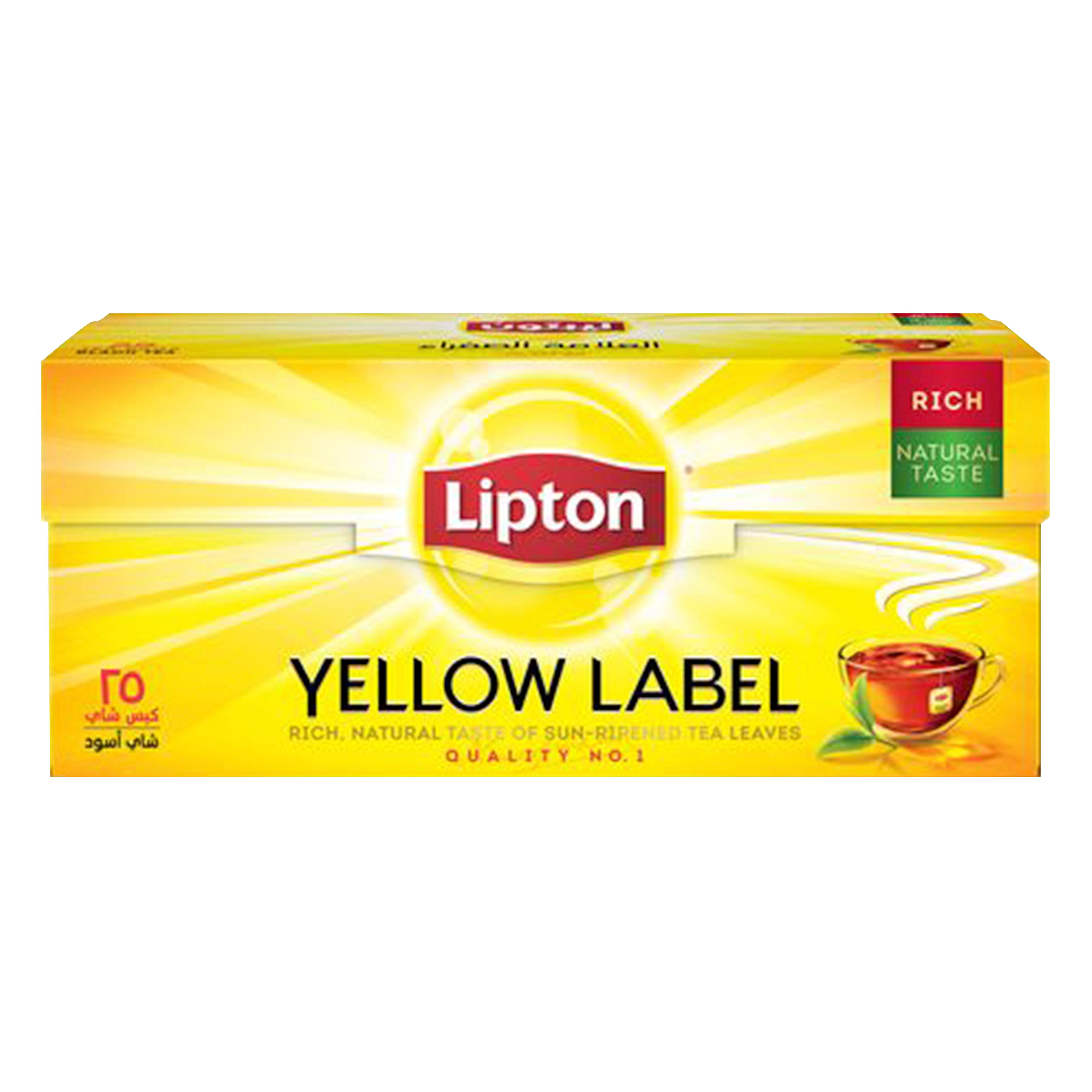 Yellow Label Black Tea 25 Teabags