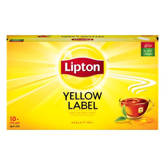 أكياس الشاي الأسود العلامة الصفراء 150 كيس