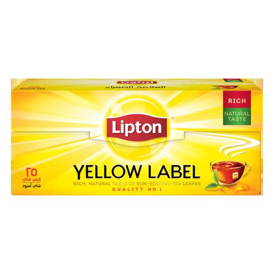 أكياس الشاي الأسود العلامة الصفراء 25 كيس