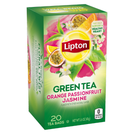 PNG - Lipton Green Tea Bags Orange Passionfruit Jasmine 20 ct
