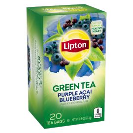 PNG - Lipton Green Tea Bags Purple Acai Blueberry 20 ct