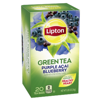 PNG - Lipton Green Tea Bags Purple Acai Blueberry 20 ct