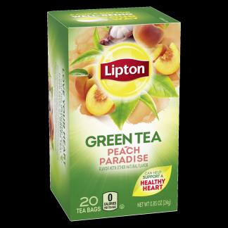 PNG - Lipton Green Tea Bags White Mangosteen Peach 20 ct