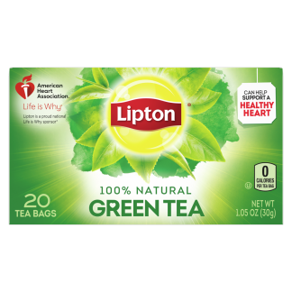 PNG - Lipton Tea Bags 100% Natural Tea Green Tea Can Help Support a Healthy Heart 1.06 oz 20 Count