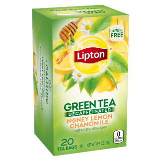 PNG - Lipton Green Tea Decaffeinated Honey Lemon 20 ct