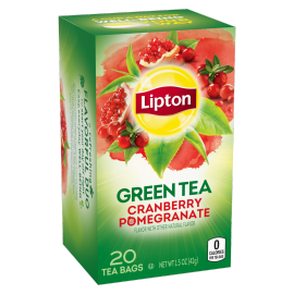 PNG - Lipton Green Tea Bags Cranberry Pomegranate 20 ct