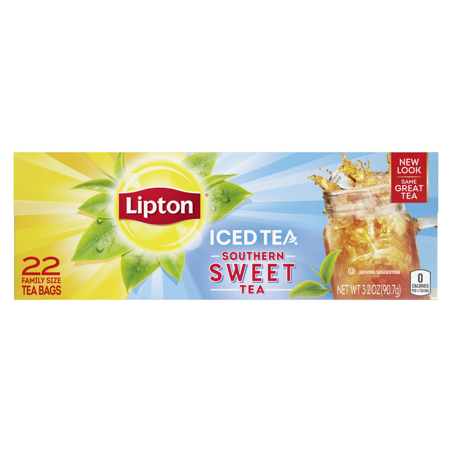 Iced Black Tea Family Size Tea Bags Lipton