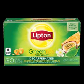 PNG - Lipton US - Lipton Green Tea Bags Decaffeinated Jasmine Passionfruit