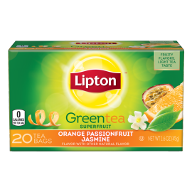 PNG - Lipton US-  Lipton Green Tea Bags Orange Passionfruit Jasmine