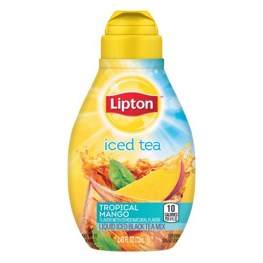 PNG - Lipton US- Lipton Tropical Mango Liquid Iced Tea Mix