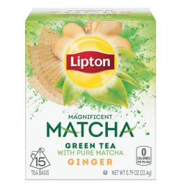 PNG - Lipton US - Lipton Green Tea Matcha Ginger 15 PC