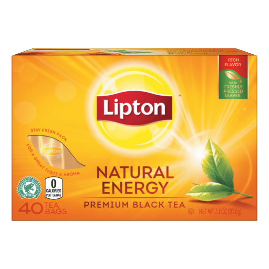 PNG - Lipton US - Lipton Premium Black Tea Bags Natural Energy